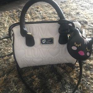 Betsey Johnson mini Barrel purse